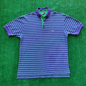 Vintage 90s Tommy Hilfiger Striped Crest Logo Polo